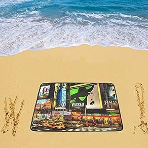 """Honey Day House Custom playa alfombrillas personalizado ciudad de Nueva York 78""""x 60"""" playa alfombrilla"""