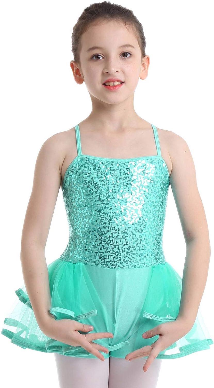 YiZYiF Enfant Fille Justaucorps Danse Ballet Gymnastique Body Sport Haut /à Paillettes Gilet Cuir Verni Top Short Patinage Costume Soir/ée Performance 5-14 Ans