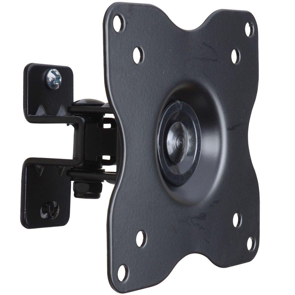 VideoSecu ML411B Adjustable Tilt Swivel Rotation TV Wall Mount Bracket for LCD LED TV and Monitor (Max 44 lbs, VESA 100/75) Black 1FF