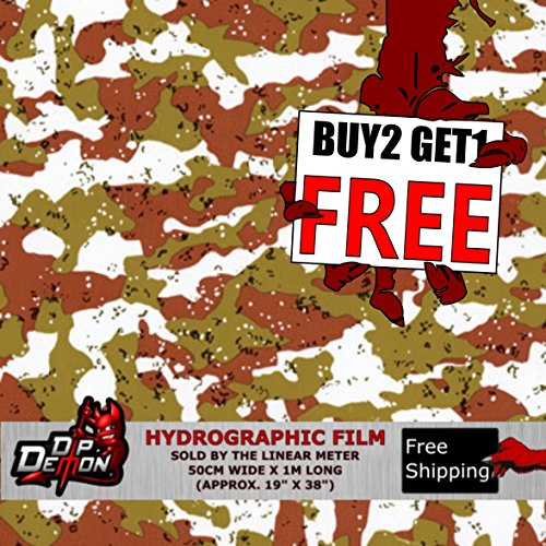 picy Combat Desert Camo Hydrographic Water Transfer Film Hydro Dipping Dip Demon ()
