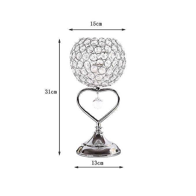 Lámpara de mesa de cristal de acero inoxidable lámpara de ...
