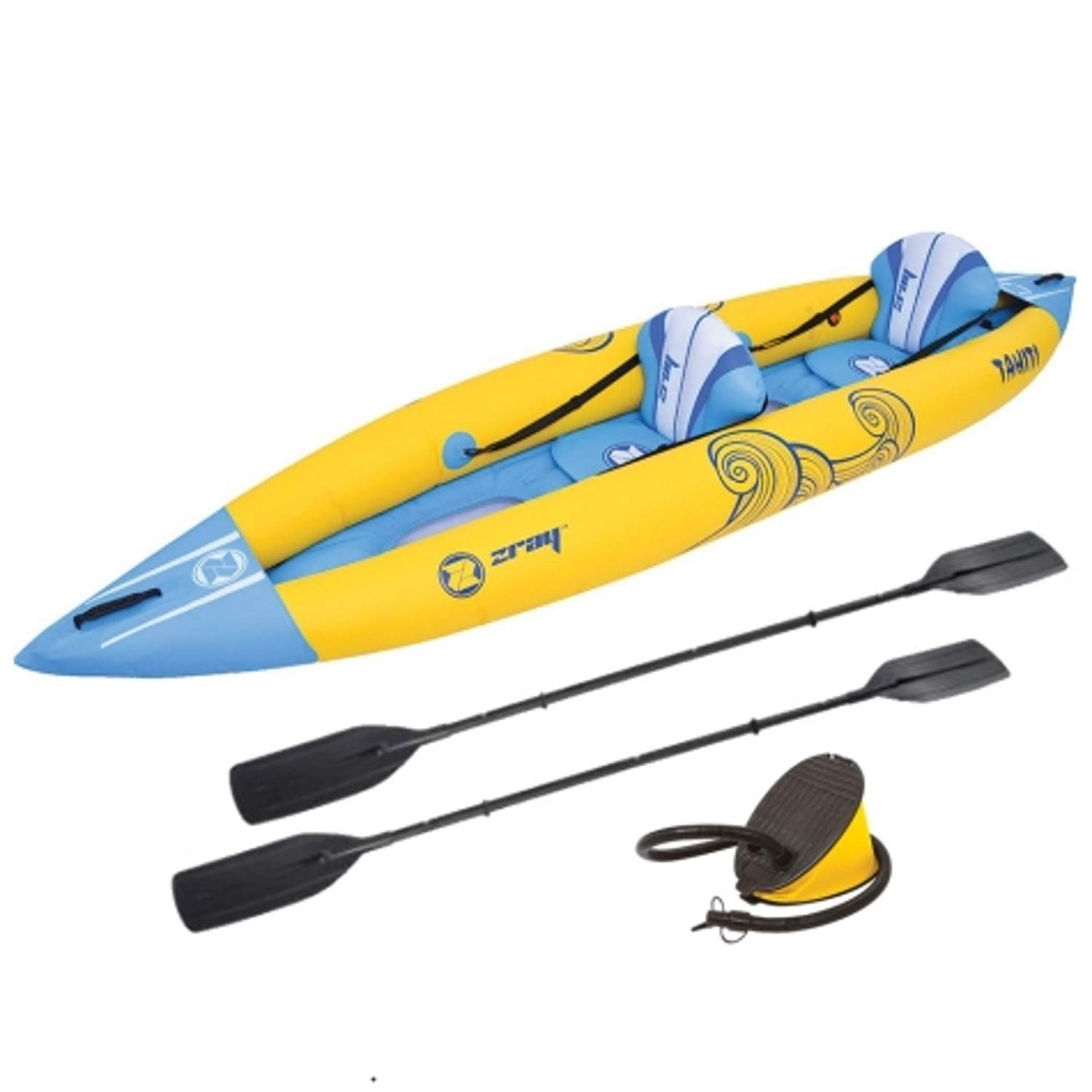Z-Ray Tahiti Inflatable 2-Person Kayak with Pump and Oars by Zray