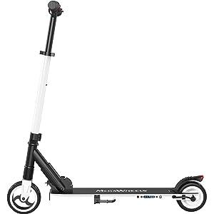 M MEGAWHEELS Scooter eléctrico, Patinete eléctrico es Ajustable la Altura para los Adolescentes y los Adultos.(White)