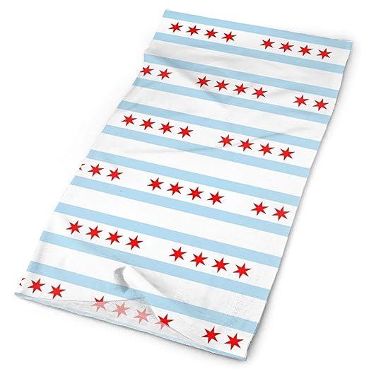 Amazon com: Chicago Illinois Flag Pattern Tube Bandanas
