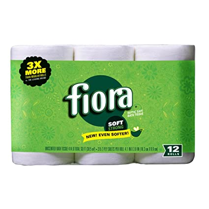 Amazoncom Fiora Unscented Bath Tissue 12 Roll 1 Pack Home Kitchen