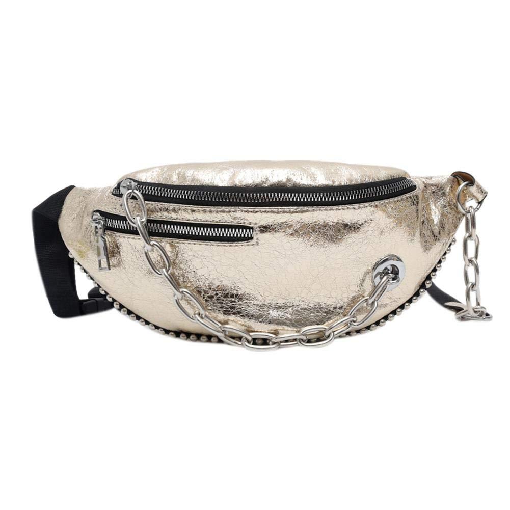 Bolso de Pecho para Mujer xintiand Bolsa de Hombro Mochilas Cadena de Cuero Agrietado Paquete de Cintura: Amazon.es: Deportes y aire libre