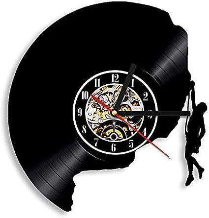 BBNNN Escalada 3D Art Deco Reloj de Pared Vinilo Antiguo ...