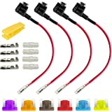 Gebildet 12V 24V Low Profile Add-a-Circuit Fuse Tap, ACS Miniature Piggy Back Blade Fuse Holder with Wire Harness, 6 pcs…