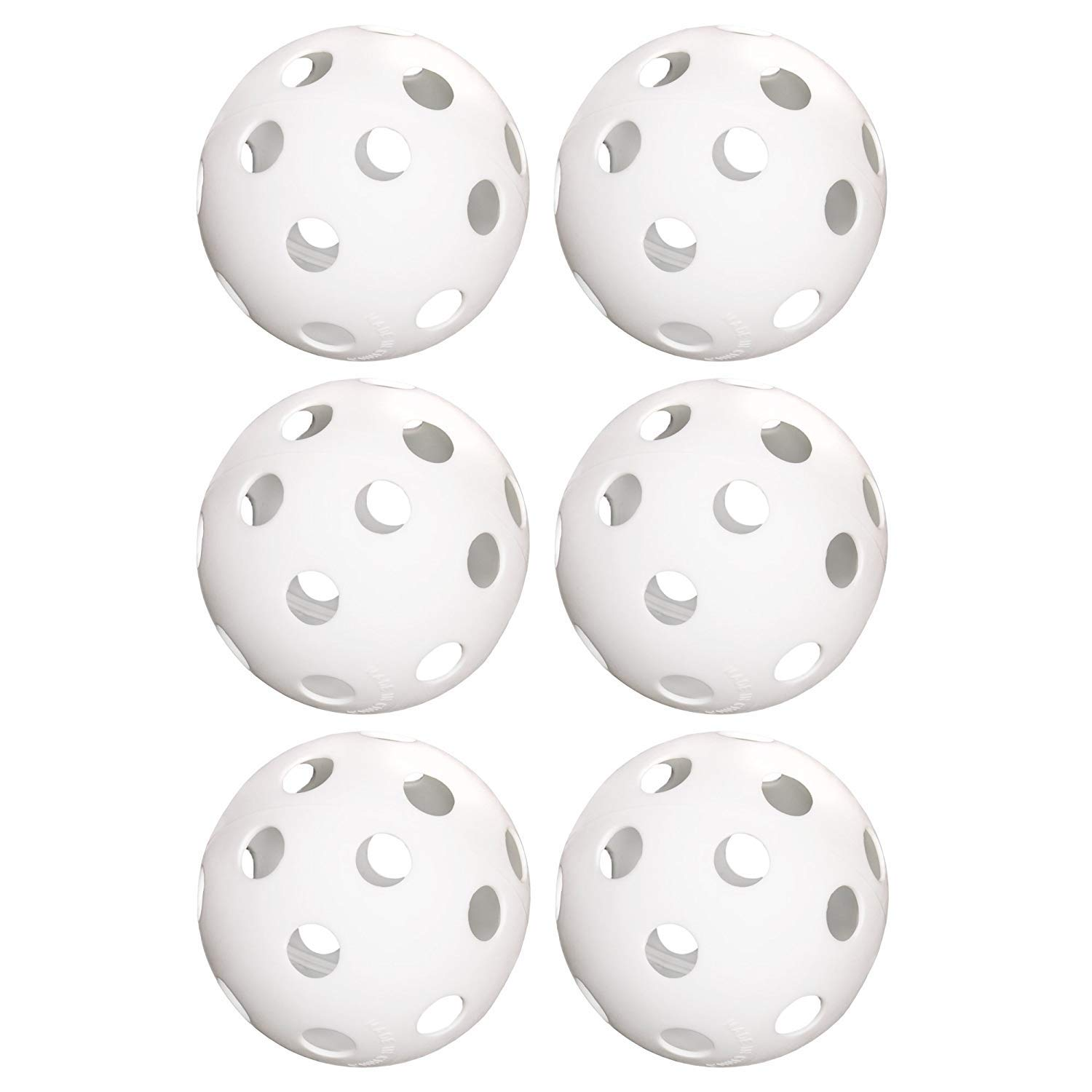 JVSISM 6-Pack Of 9-Inch Softballs–Perforated Practice Balls For Sports Training & Wiffle Ball