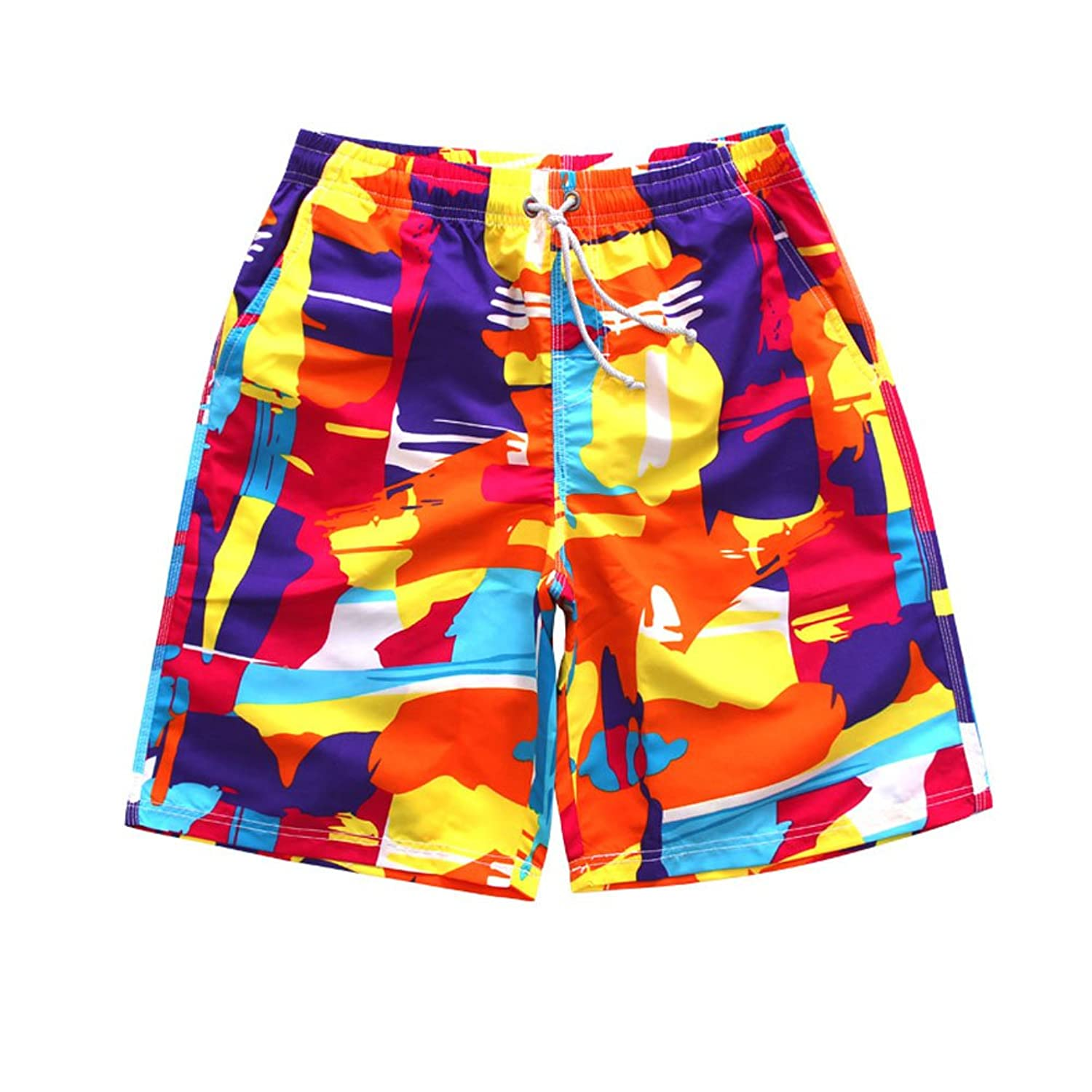 245d2a55 30%OFF Mlotus Colorful Print Quick Drying Beach Board Shorts Summer ...
