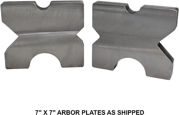 "PREMIUM 20 Ton STEEL shop PRESS BED PLATES H-Frame Arbor X-Bars 5 /""X 7/"" Set Pr"