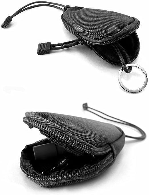 OneTigris Porte-Monnaie Portable Mini en Nylon avec Le Porte-cl/és INOX pour Les Accessoires Tactiques EDC