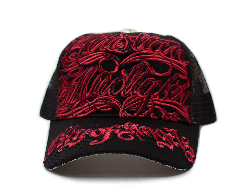 Christian Audigier COA Hat Cap Unisex Truckers City of Angeles Black Red at  Amazon Men s Clothing store  89cb5ba08f2