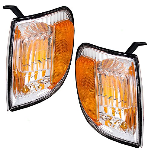 Driver and Passenger Signal Corner Marker Lights Lamps Replacement for Toyota Pickup Truck 815200C010 815100C010