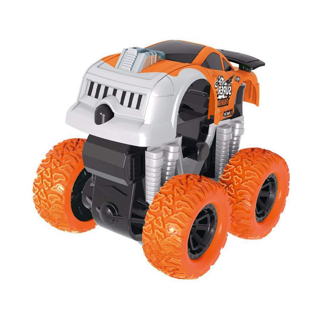 Jinjin Car Toy,Inertia Four-Wheel Drive Off-Road Vehicle Simulation Model Toy Baby Car (Orange)
