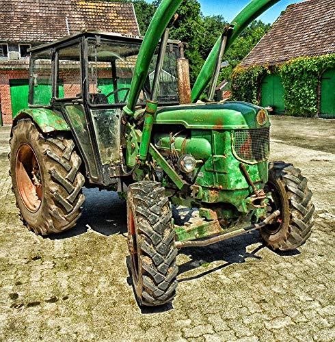 Photography Poster - Tractor, Deutz, Farm, Rural, Hdr, 24