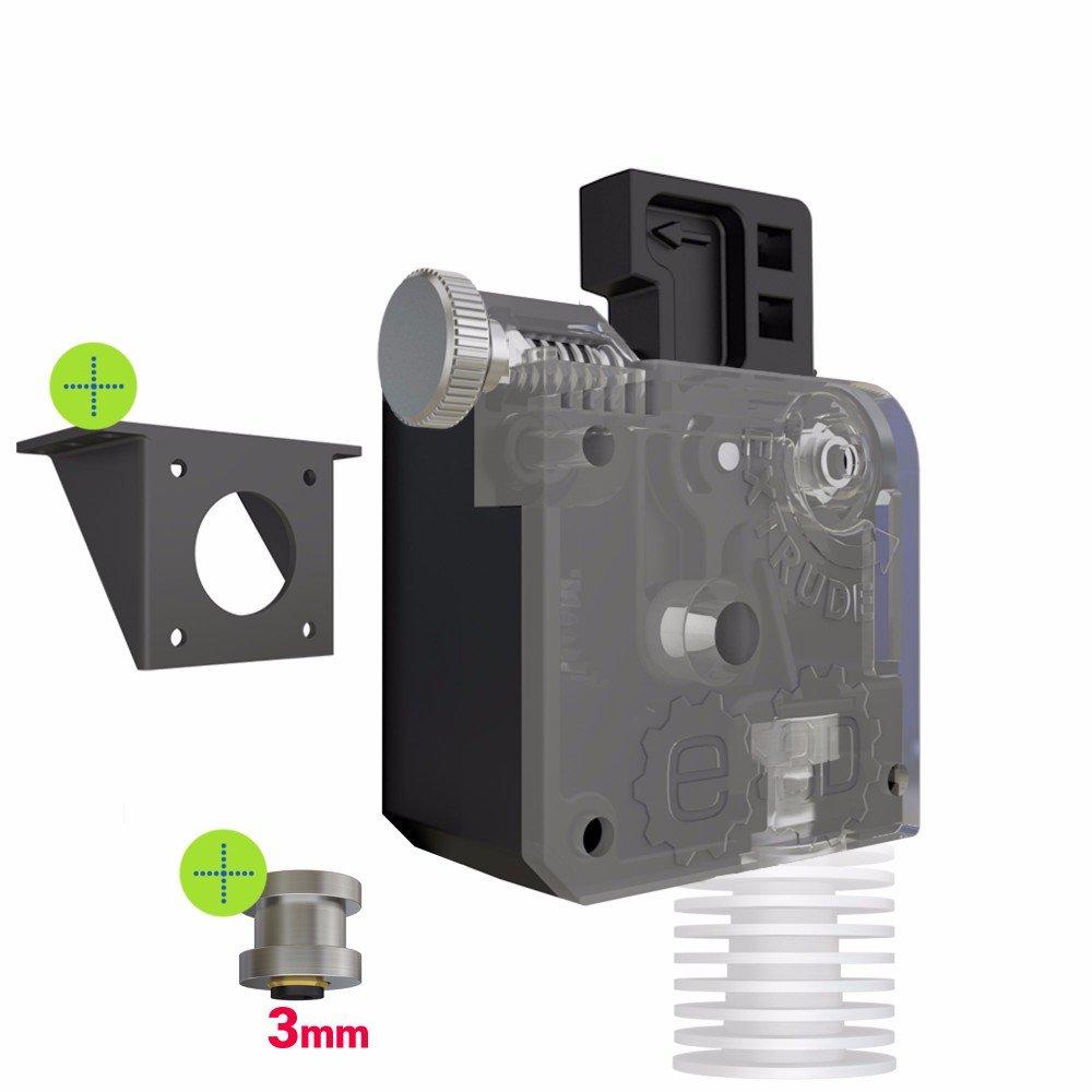 E3D - Soporte de montaje estándar para extrusor de titanio ...