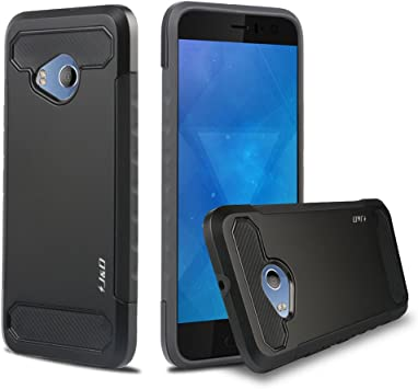J&D Compatible para HTC U11 Life Funda, [Fibra Carbono] [Doble ...