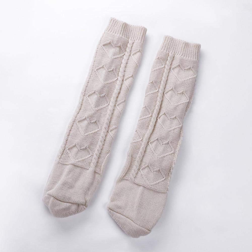 VJGOAL Mujeres Otoño E Invierno moda casual color sólido sexy Sobre la rodilla Algodón Calcetines largos Botón decorativo de punto Calzado transpirable ...