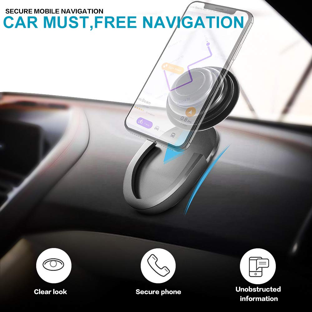 IVVO 2 Pack Car Phone Mount for Grips Stand and Grips Office Home Black Collapsible Grip Stand Holder Use for in Car