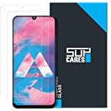 SupCares Premium Tempered Glass Screen Protector for Samsung Galaxy M30 / Samsung Galaxy A30 / Samsung Galaxy A50 with Easy Installation Kit (Transparent) [Pack of 2]