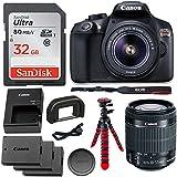 Canon EOS Rebel T6 DSLR Camera Kit, EFS 18-55mm, Memory Card, Tripod & Accessory Bundle
