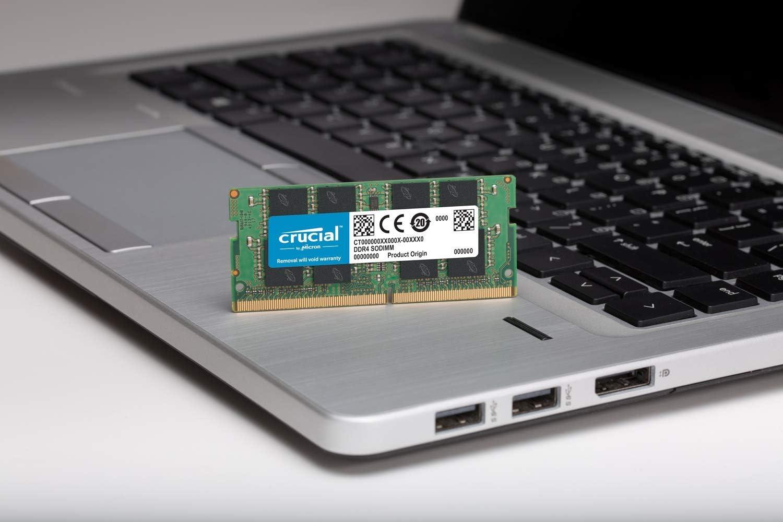 Crucial CT4G4SFS632A 4 GB Memory DDR4, 3200 MT//s, PC4-25600, CL22, Single Rank x16, SODIMM, 260-Pin