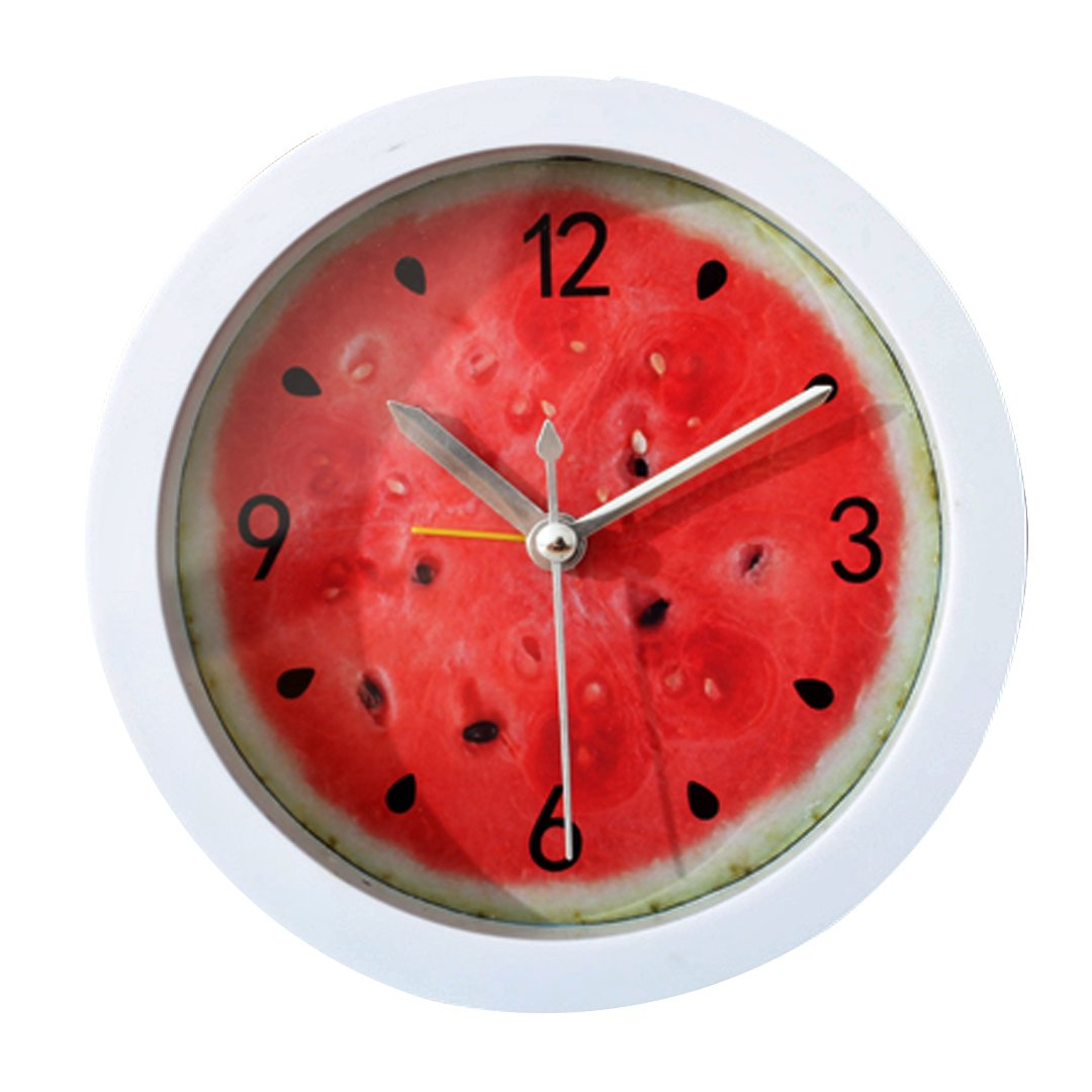 LA HAUTE Creative Lemon Fruit Alarm Clock Modern Round Shape Silent Desk Alarm Clock Bedside Travel Alarm Clock