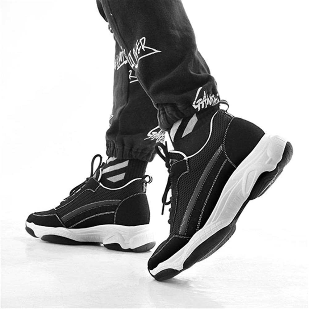 Fashion Breathable Lightweight Mens Height Increasing Elevator Sport Shoes Get Taller 3.14 inches