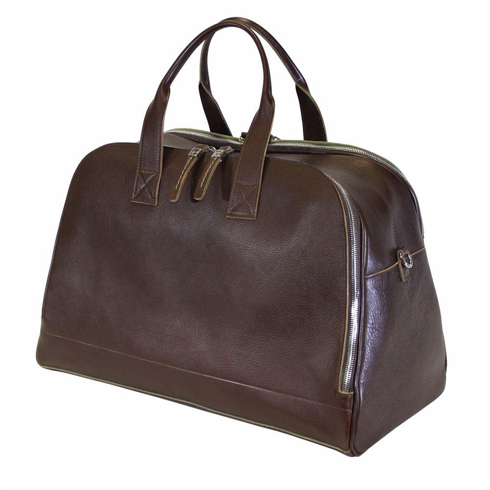 Terrida Italian Leather Large Travel Bag Dark Brown