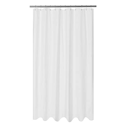 Beau Amazon.com: Mrs Awesome Embossed Microfiber Fabric Extra Long Shower Curtain  Liner 96 Inches Length, Washable And Water Repellent, White: Home U0026 Kitchen