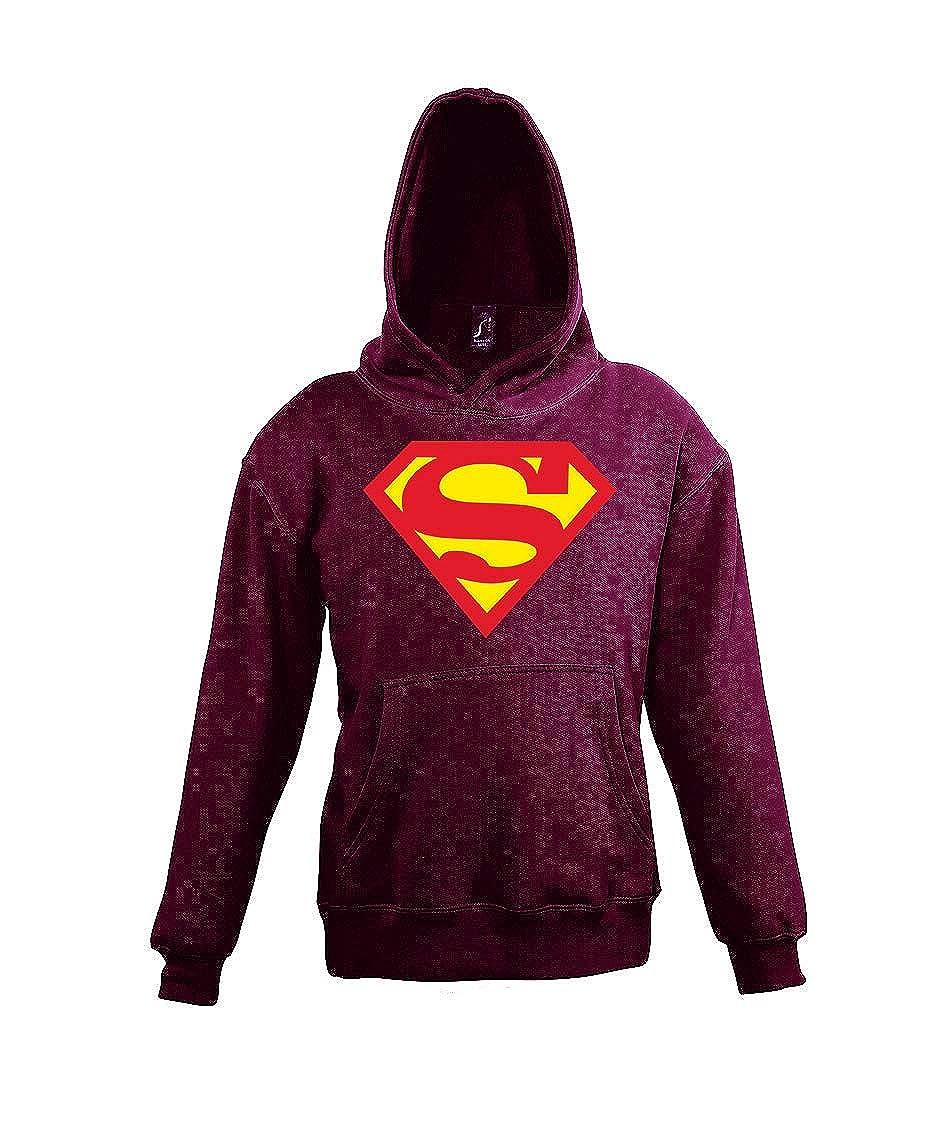 TRVPPY Kinder Hoodie Kapuzenpullover Modell Superman Wei/ß Gr 4-12 Jahre in vielen Farben