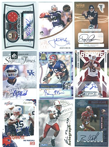 (3) Random Autographed Signed Football Trading Cards Lot Featuring Pro And/or College Players