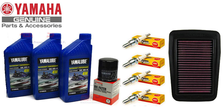 Yamaha 2005-2015 VX Sport Deluxe Cruiser VX110 Oil Change Maintenance Kit w/NGK Spark Plug Set & OEM Air Filter by YAMAHA
