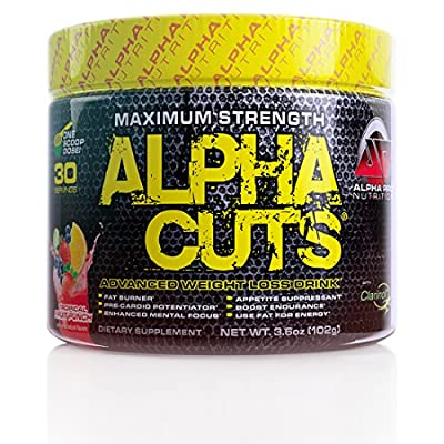 ALPHA CUTS Alpha Pro Fat Burner Pre Workout drink weight loss thermogenic, Kiwi Strawberry30 servings
