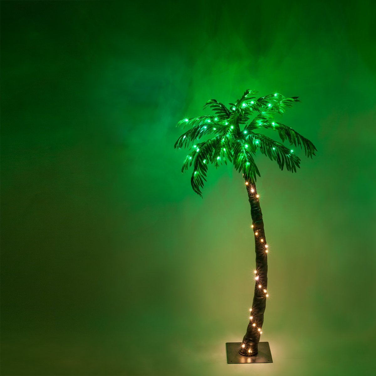 Kringle Traditions 10 Function LED Lighted Palm Tree - Pre-Lit Palm Tree Indoor/Outdoor - Remoted Controlled with Timer (5 Ft)
