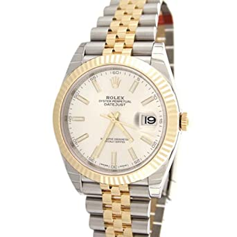 Amazon.com Rolex Datejust Ii 41mm White Dial Yellow Gold