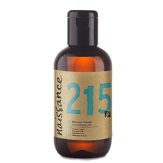 Naissance Aceite de Almendras Dulces n. º 215-100ml - 100% puro para humectar y equilibrar la piel, hidratar el cabello y todo el cuerpo.: Amazon.es: Hogar
