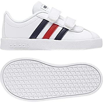 wholesale dealer deeed cd2e5 adidas VL Court 2.0 CMF I Chaussons Mixte bébé, Blanc (FtwblaMaruni