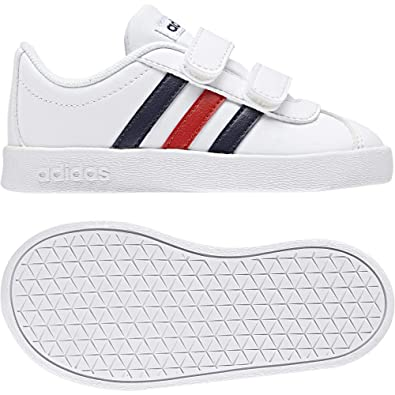 competitive price 9f8af ce658 adidas Unisex Babies  Vl Court 2.0 CMF I Slippers, White (Blanco 000)
