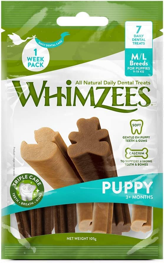 WHIMZEES Puppy Dental Dog Treats (7 Daily)