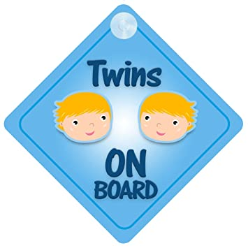 Amazon twins boys on board car sign new baby child gift twins boys on board car sign new baby child gift present baby shower negle Choice Image