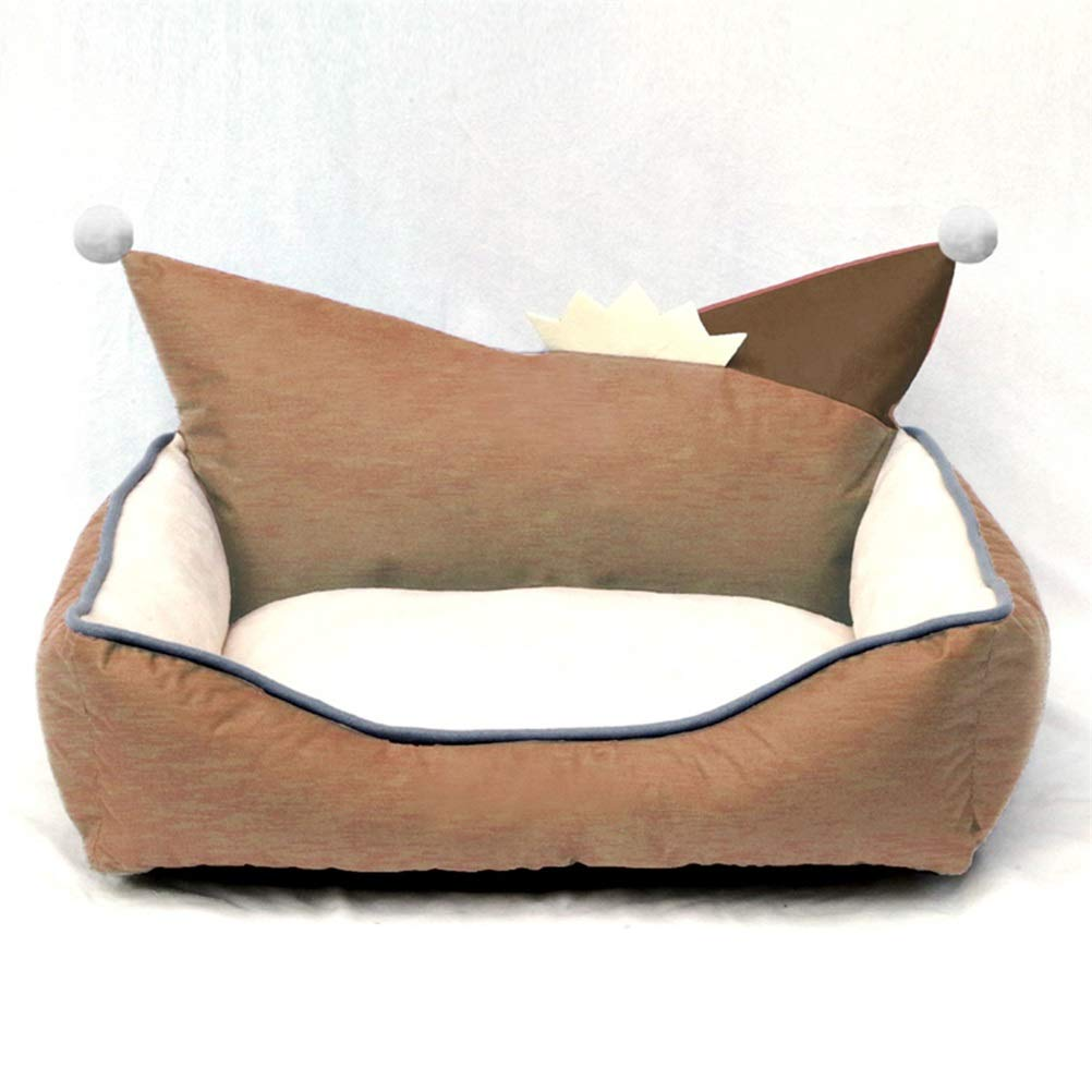 Brown L Brown L Soft and Comfortable Dog House Removable and Washable Four Seasons General Teddy Pet cat Dog cave Oxford Cloth Waterproof and Dirty Cat Toilet Small Medium Dog Dog Mattress Winter Warm