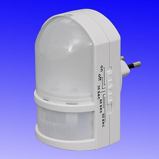 Luz nocturna LED con sensor de movimiento - luz automático con ...
