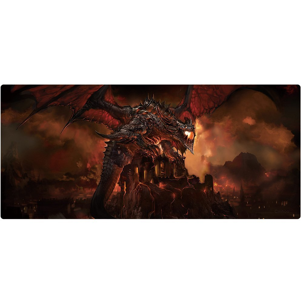 Imegny Extended Gaming Mouse Pad, Mouse Mat for High DPI Professional Gaming Quality (35.415.7Inch, huolong13)