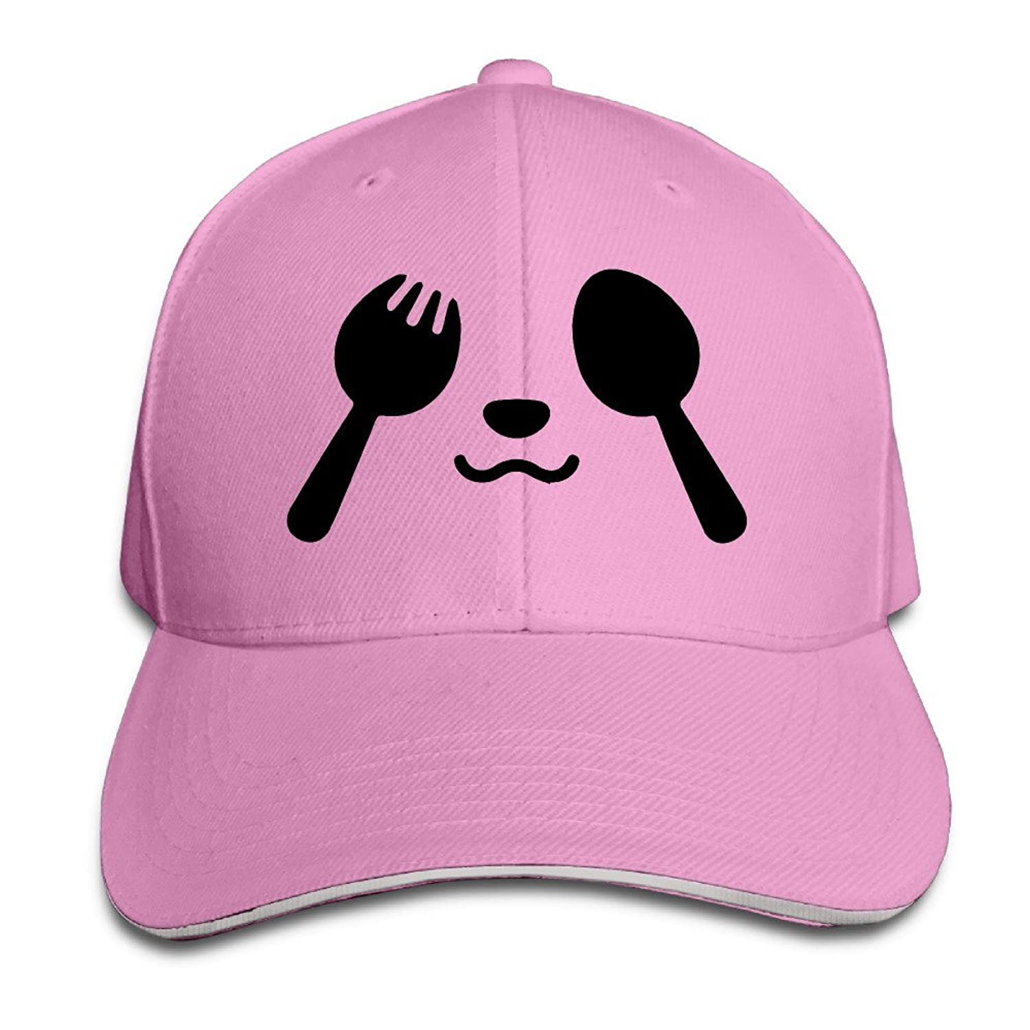 FOODE Panda Knife And Fork Peaked Baseball Cap Snapback Hats