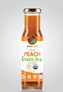 Chia Star Peach Green Tea Fusion three 8 oz bottles