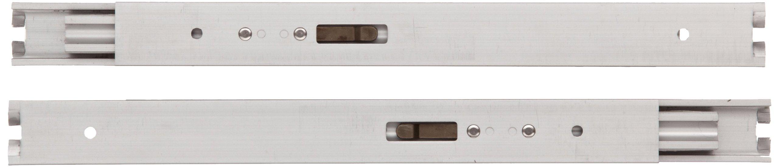 Sugastune AR3-K Aluminum Drawer Slide, Full Extension, Positive Stop, 15-3/4'' Closed, 16-19/64'' Travel, 29 lbs/Pack Ld Cap (1 Pair)