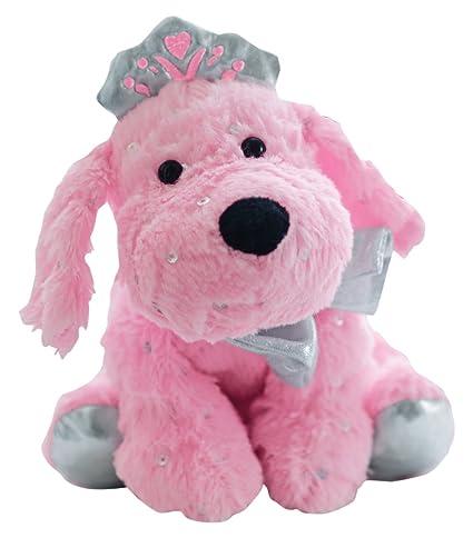 Amazon Com Girlzndollz Jewels Plush Puppy Plush Pink Silver Toys