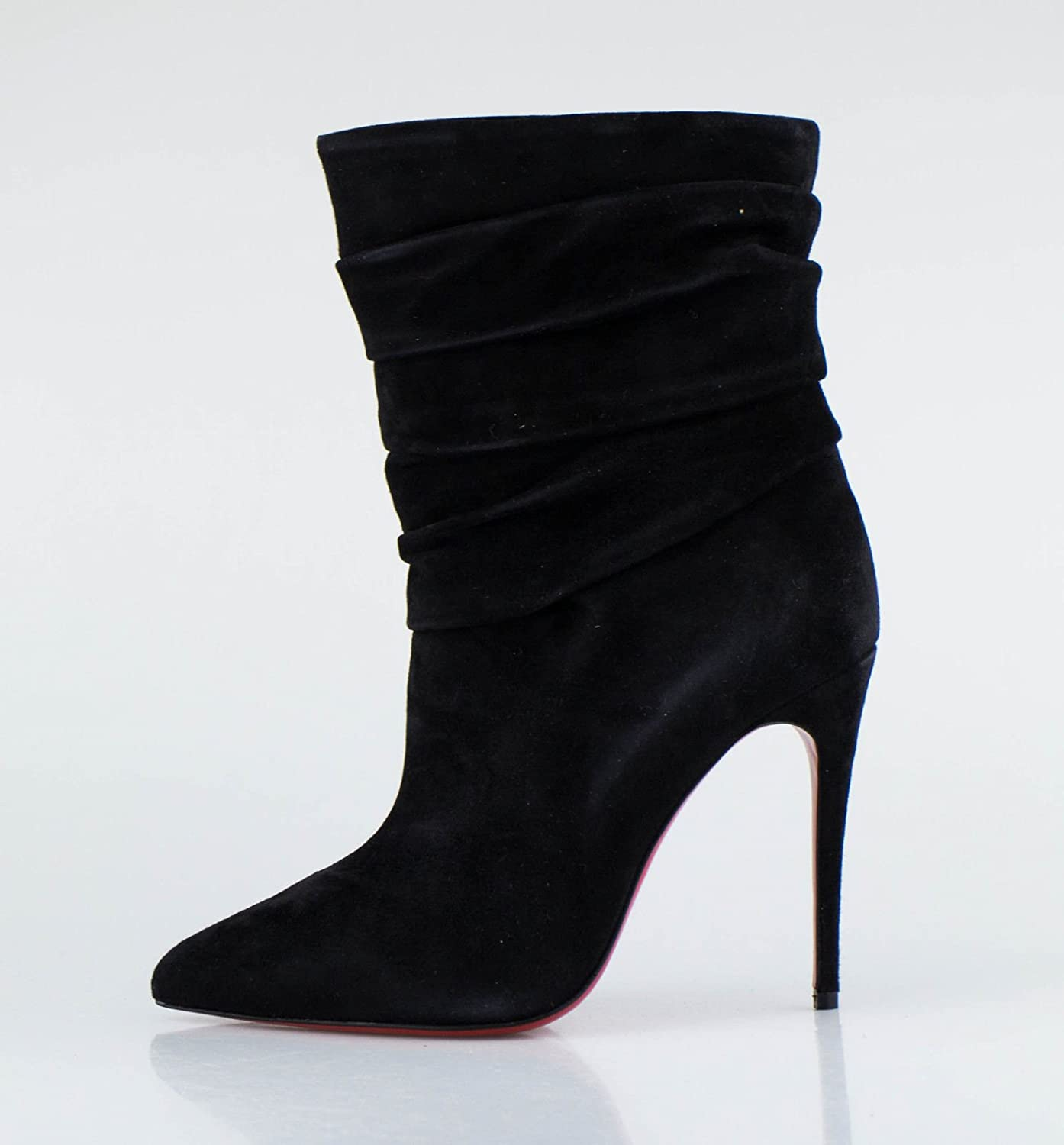 purchase cheap 90147 76044 Amazon.com : CHRISTIAN LOUBOUTIN Black Suede Ishtar Booty ...